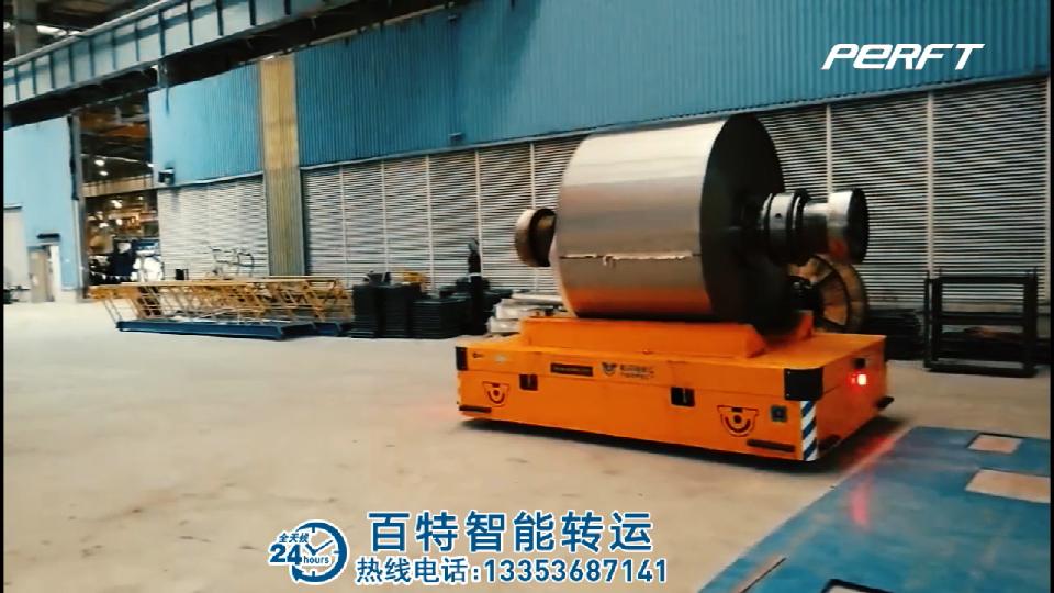 bwp大吨位机械件转运车|百特智能无轨平板车